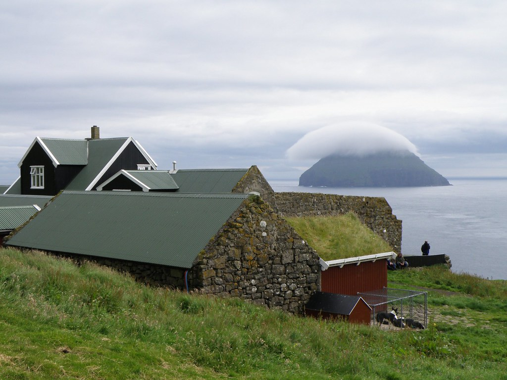 Stra Dmun  View to Ltla Dmun  Faroe Islands  This