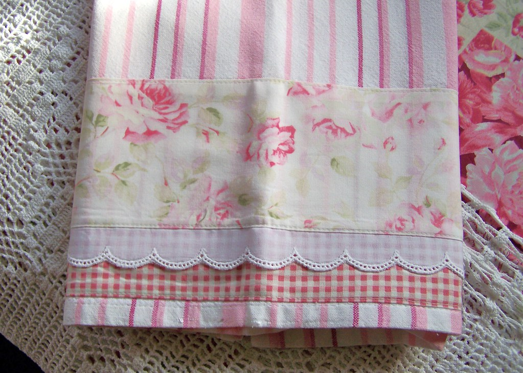 Shabby Chic tea towels  Decorative Shabby Chic tea