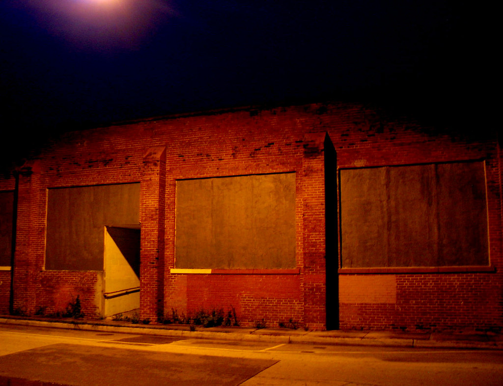 Downtown Brick Building Warehouse Night Lens Flare  Flickr