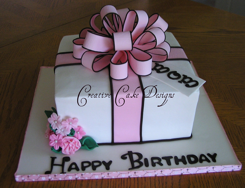 Pink Present Cake in Buttercream  The second of FIVE cake