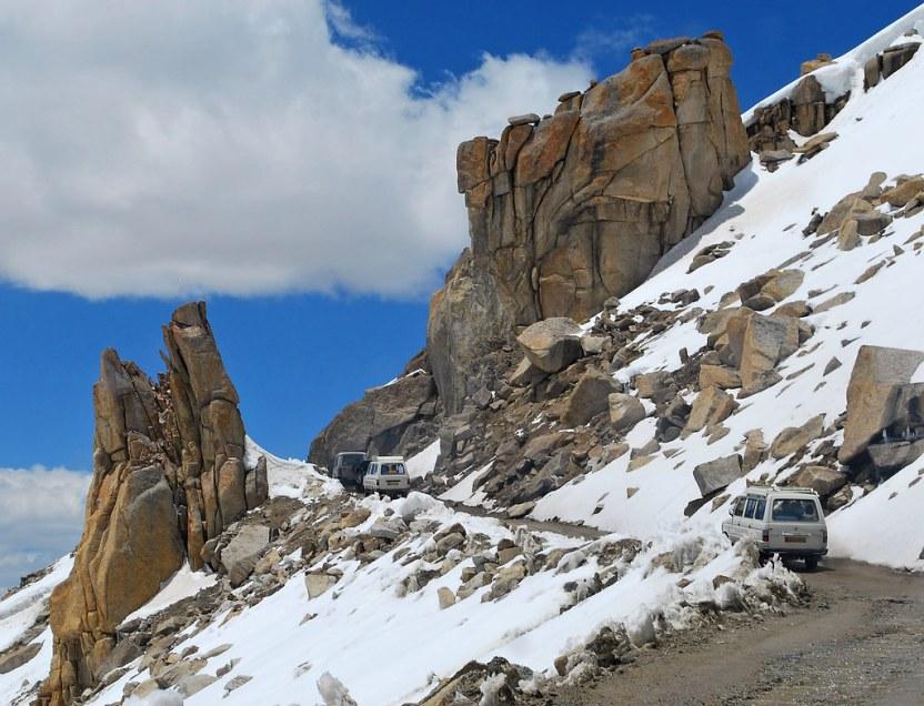 snow clad mountain