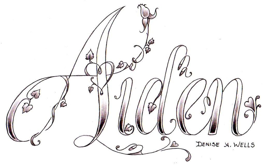 Aiden Tattoo Design By Denise A Wells Yet Another