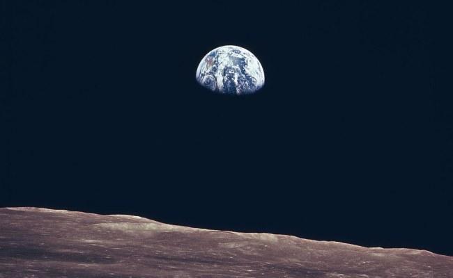Earth Rise As Seen From Lunar Surface Full Description
