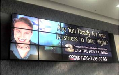 5x3 Video Wall for Airport Advertising 1  MultiMonitor