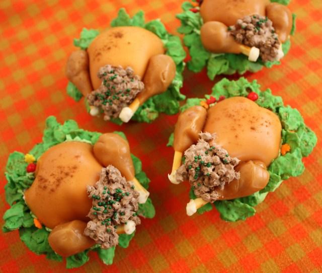 Turkey Cupcakes By Saucy Dragonfly Turkey Cupcakes By Saucy Dragonfly