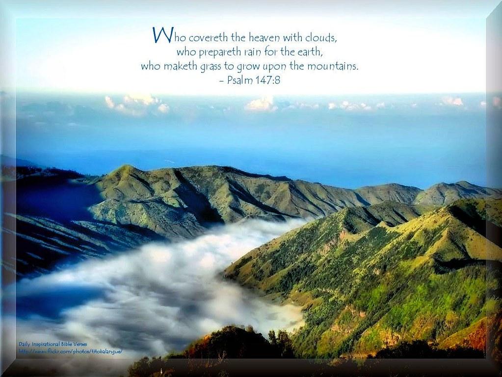 10 Daily Inspirational Bible Verse Psalm 147 8