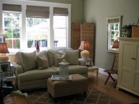 sage green family room | a farmhouse-style living room ...