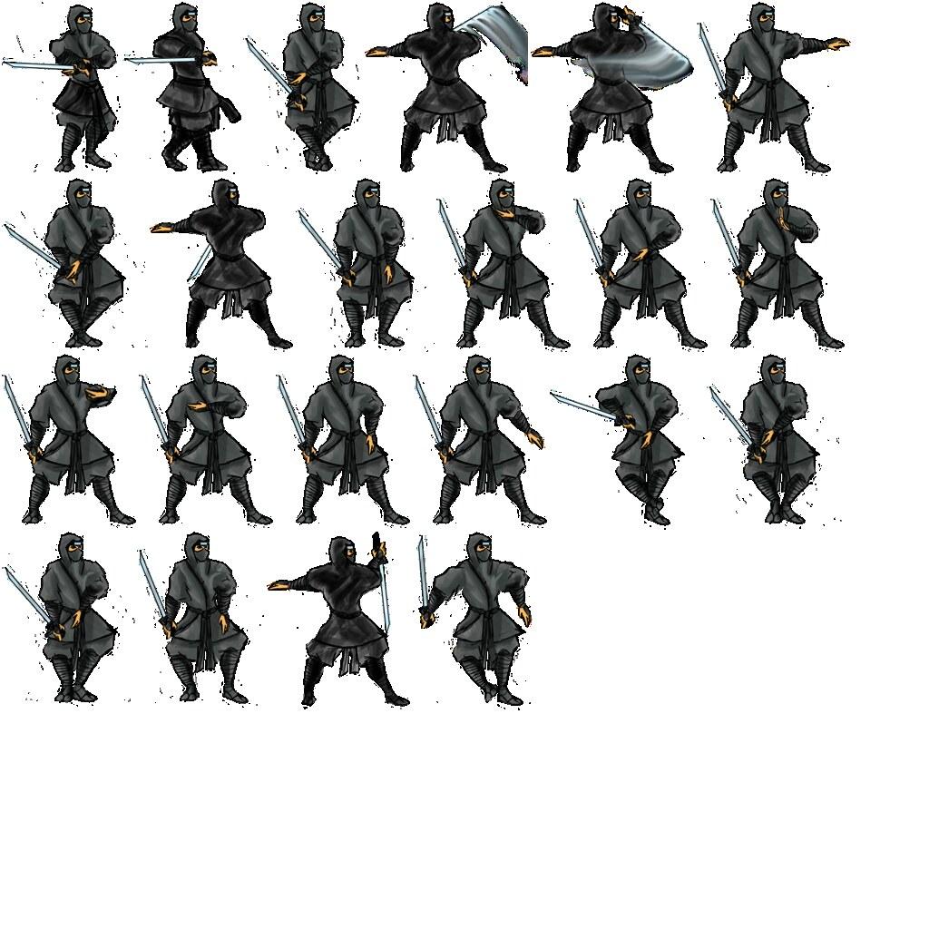 Large Ninja Shinbi Sprite Sheet