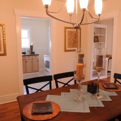 Kitchen C King Cabinets Dining Room Table With A View Into The And Hallway ...