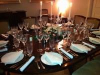 Dinner table set for dinner party   Dinner table for ...