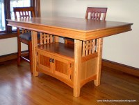 """Custom Cherry Hightop Kitchen Table with 18"""" x 32"""" Cabinet ..."""