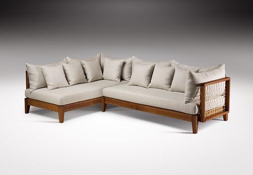 leather sofa chair cheap lounges melbourne riempie l shape couch, designed by haldane martin, photo j ...