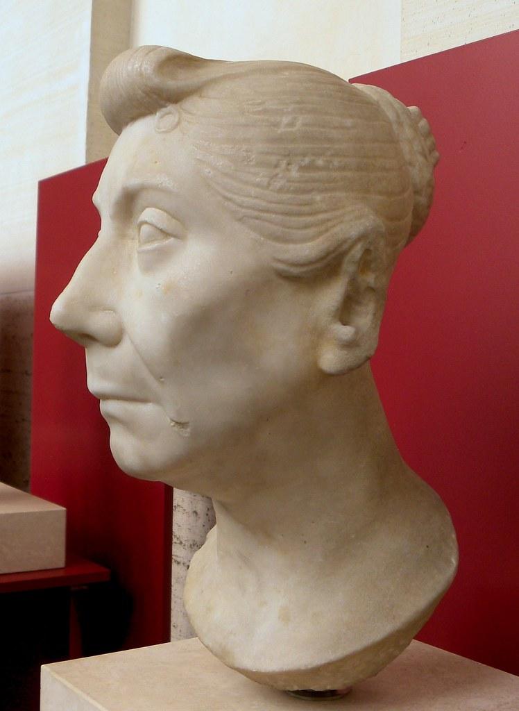 Portrait Of Mature Roman Woman Portrait Bust Of A Roman