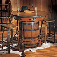 Whiskey Barrel Pub Table And Chairs Chair Covers Laura Ashley Cowboy Western Bar Stools | Rustic Sty… Flickr
