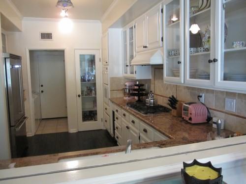white kitchen cabinets granite tile countertops kourtney kardashian | quality bath flickr