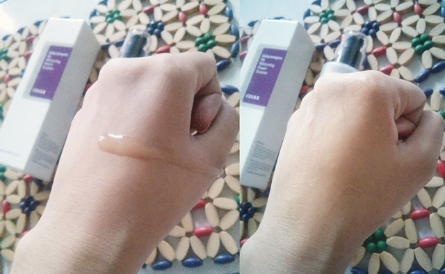 CosRX Galactomyces 95 Whitening Power Essence application swatch