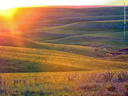 Before Sunset in the Flint Hills, 4 May 2017