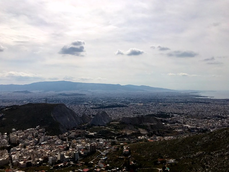 great view of athens from mount aigaleo