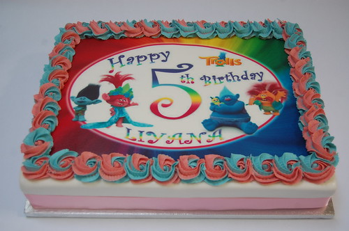 Trolls Edible Print Cake Beautiful Birthday Cakes