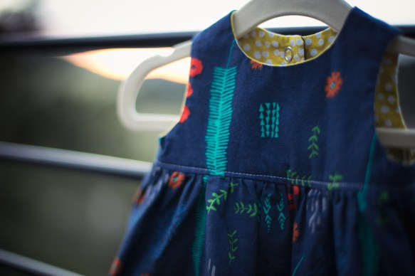 Newborn Geranium Dress