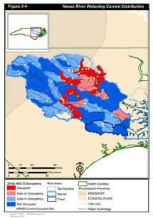 Neuse River waterdog current occupancy Map by USFWS