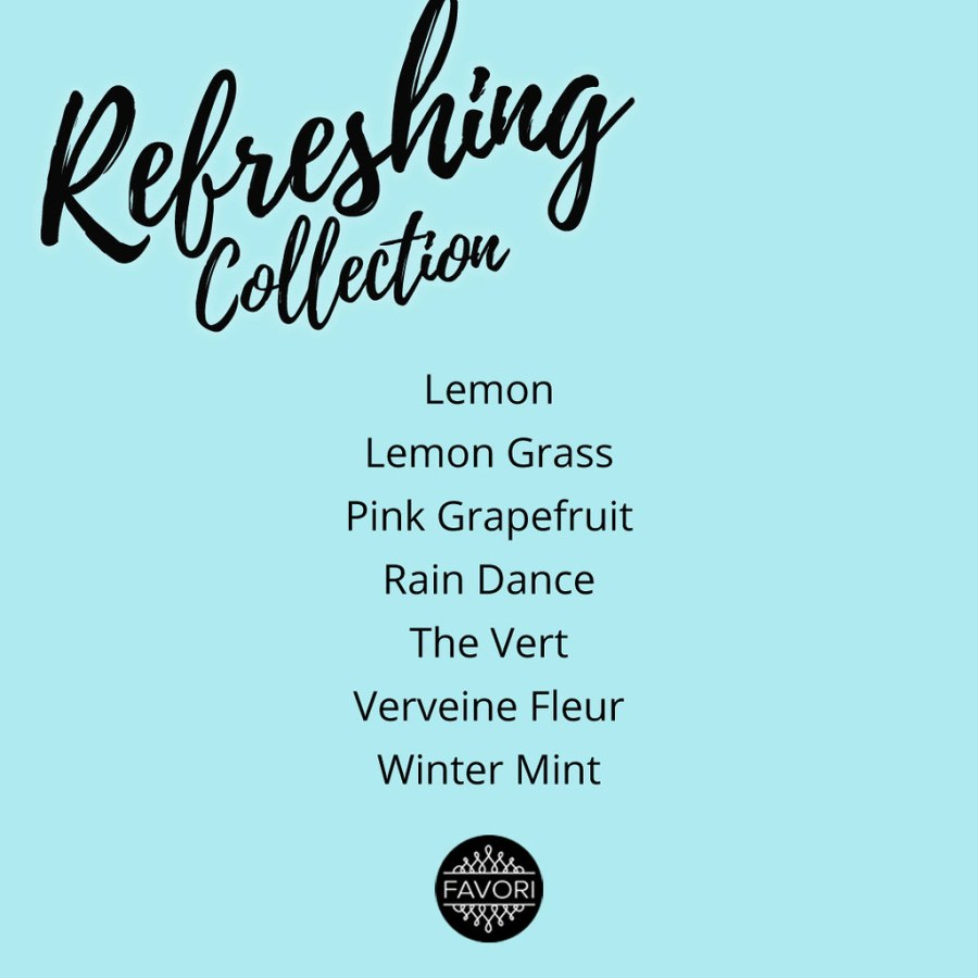 FAVORI Refreshing Aroma Collection 04 Scent List