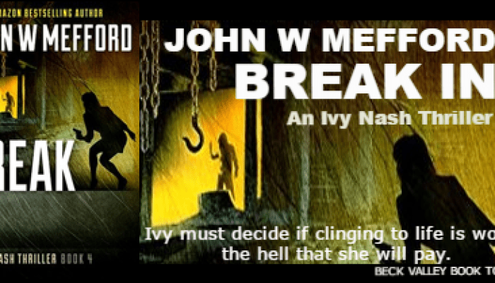 Break IN by John W Mefford Review and Giveaway Ends 8/5/2017