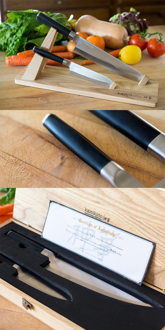 An in-depth review of the Senshi Kamikoto Knife Set - a chef's knife and utility knife, made of Niigata steel - complete with many photos and tips. #kamikoto #review