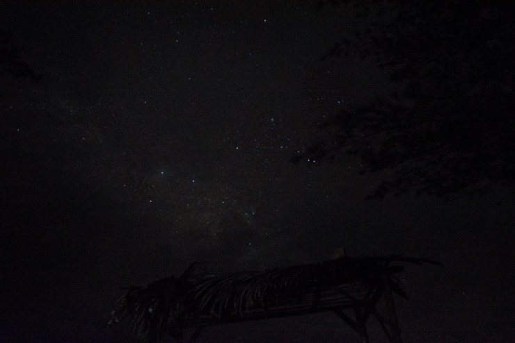 milky way pantai pangi