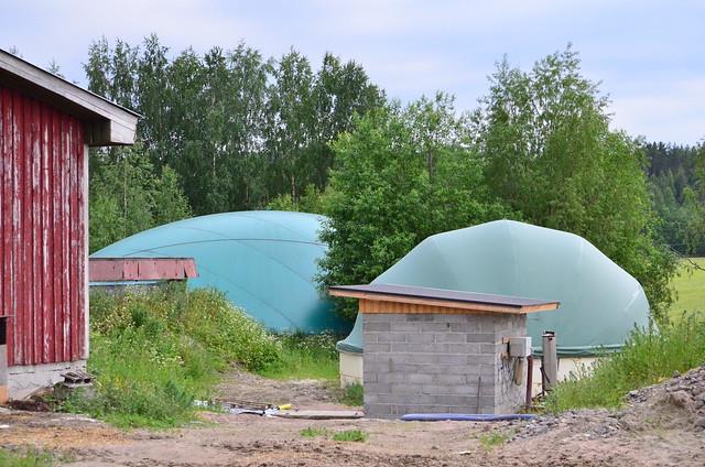 Biokaasutuotantoa (CC-BY 4.0) Eksergia.fi