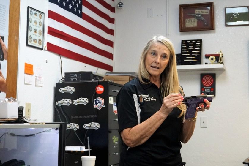 Shirley King of Female Firearms Training, Port Charlotte, Fla., Apil 29, 2017