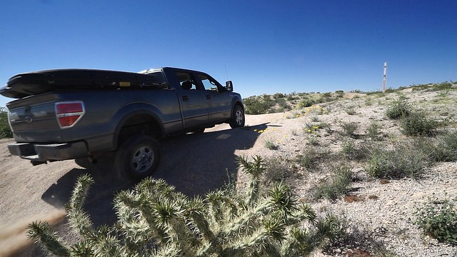 Ictyosr, our Ford F-150 on the Mojave Road.