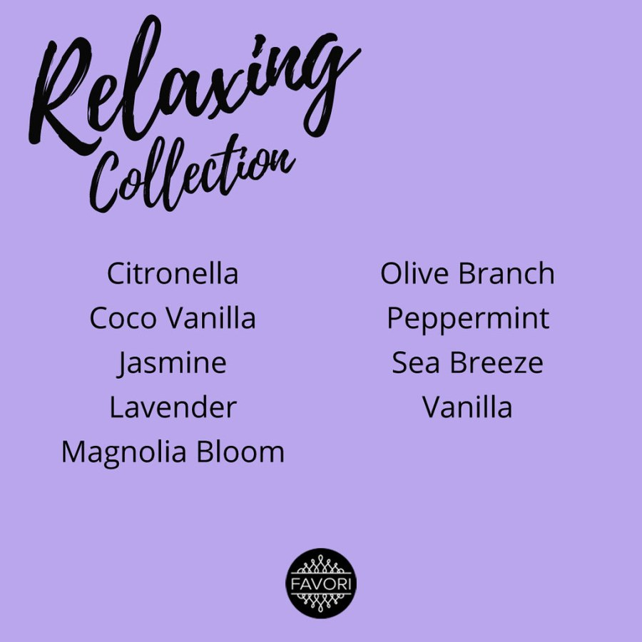 FAVORI Relaxing Aroma Collection 04 Scent List