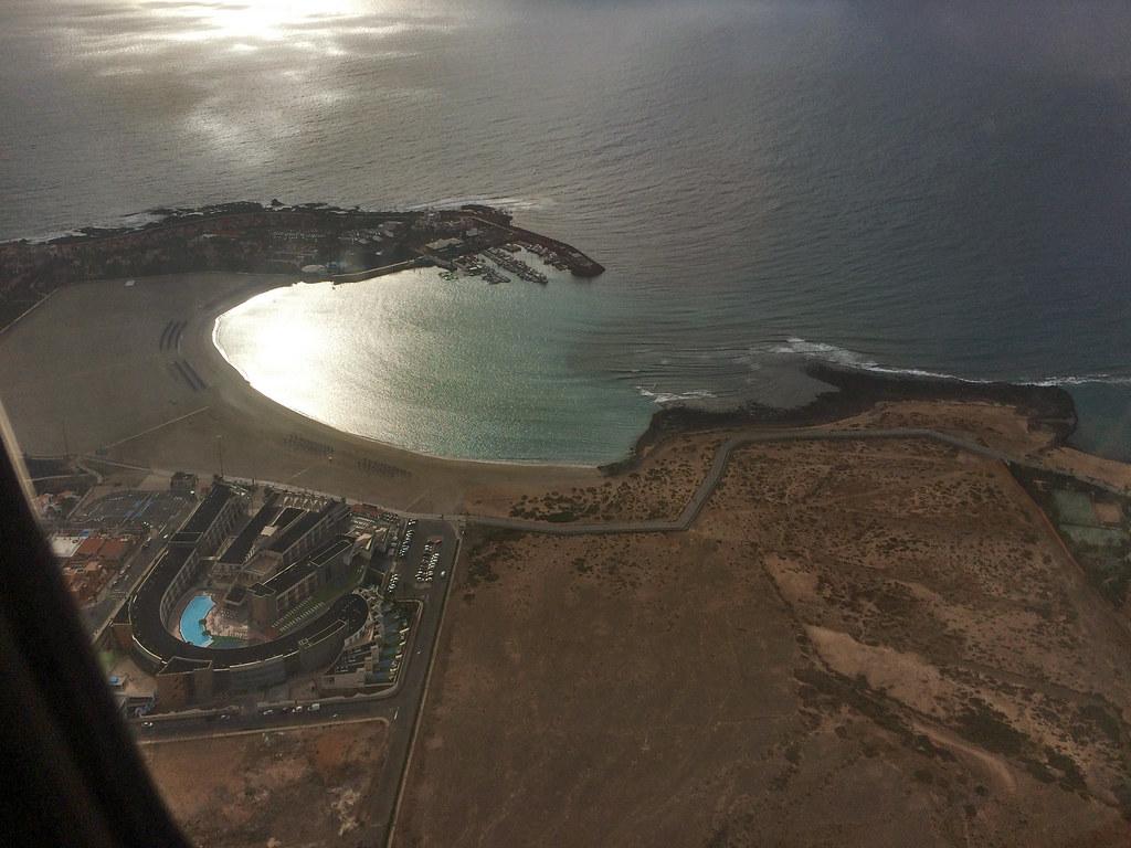 000 Vista desde el cielo Castillo de Caleta de Fuste isla de Fuerteventura