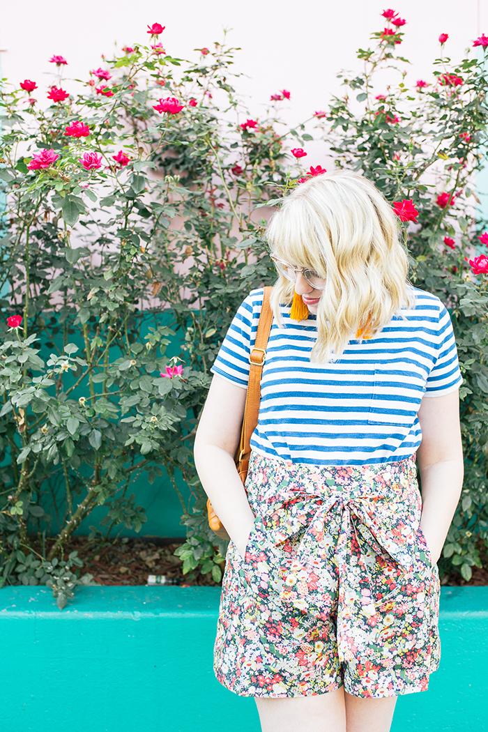 austin style blogger writes like a girl jcrew liberty floral shorts14