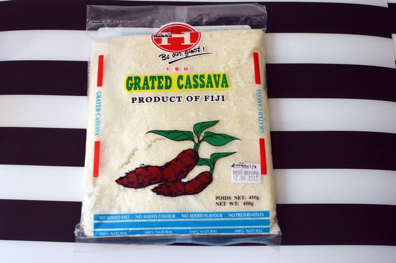Frozen grated cassava