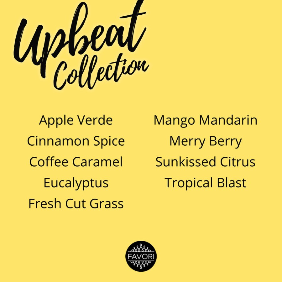 FAVORI Upbeat Aroma Collection 04 Scent List