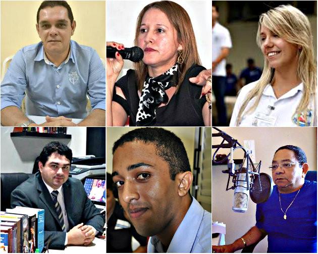 Holofotes em 6 VIPs. Jorge, Maria Raimunda, Emanuel, Joaquim, Márcio e Rafaela