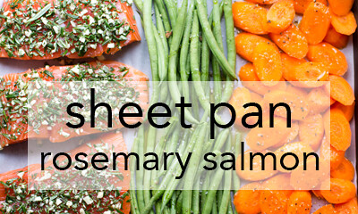 sheet pan rosemary garlic salmon