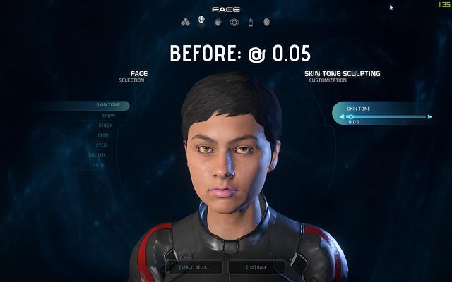 Mass Effect: Andromède pâle mod peau