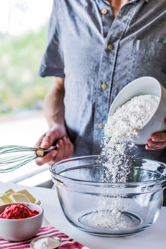 first comes the flour