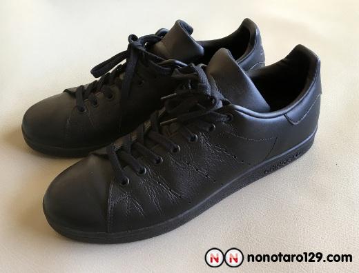Black adidas stan smith 02