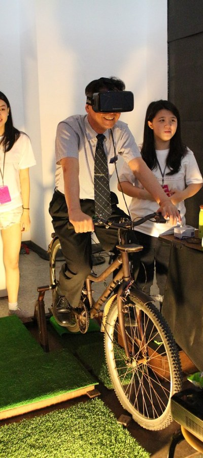 窺心-吳志揚校長騎腳踏車裝置