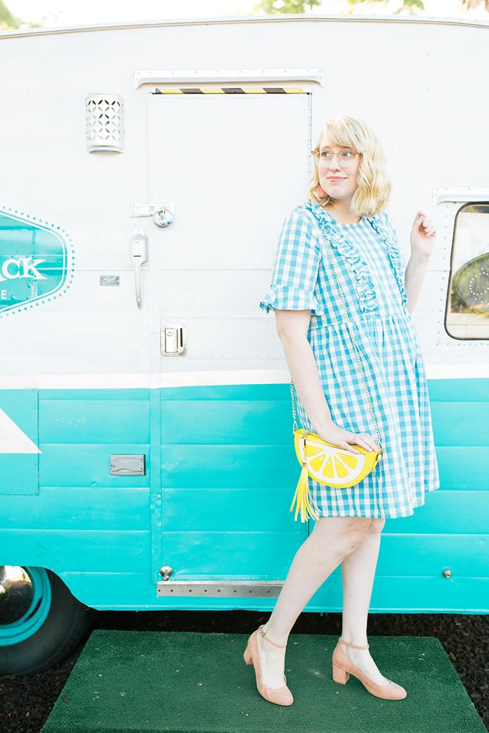 austin fashion blogger writes like a girl gingham asos dress3