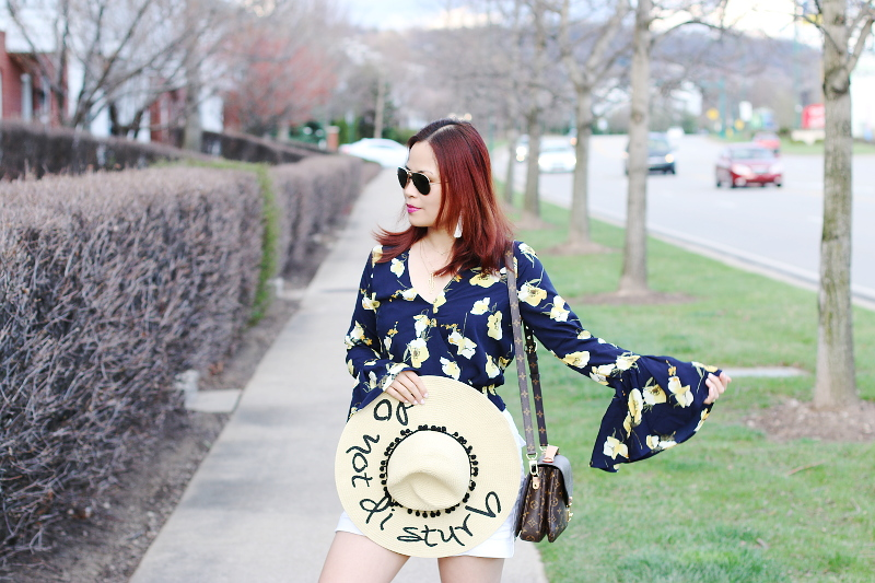 floral-bell-sleeve-top-do-not-disturb-hat-3