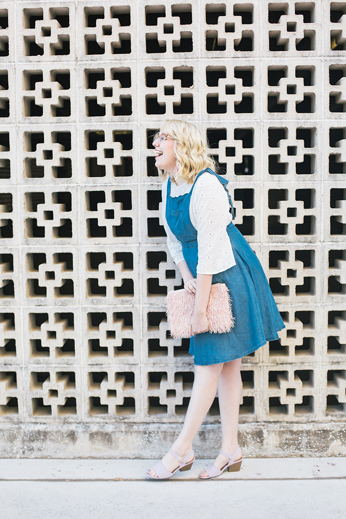 austin style blogger writes like a girl pastel and denim dress outfit4