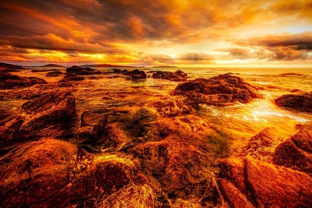 Sunset off Tasmania