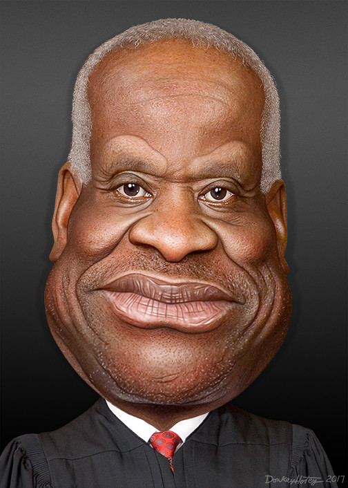 Clarence Thomas Caricature Clarence Thomas Is An