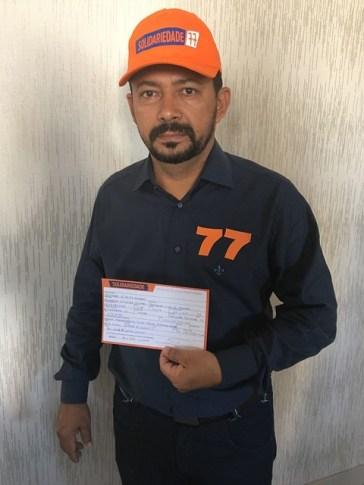 Liderança política do Xingu deixa o PSB e assina ficha do Solidariedade, Vando Amaral - SD