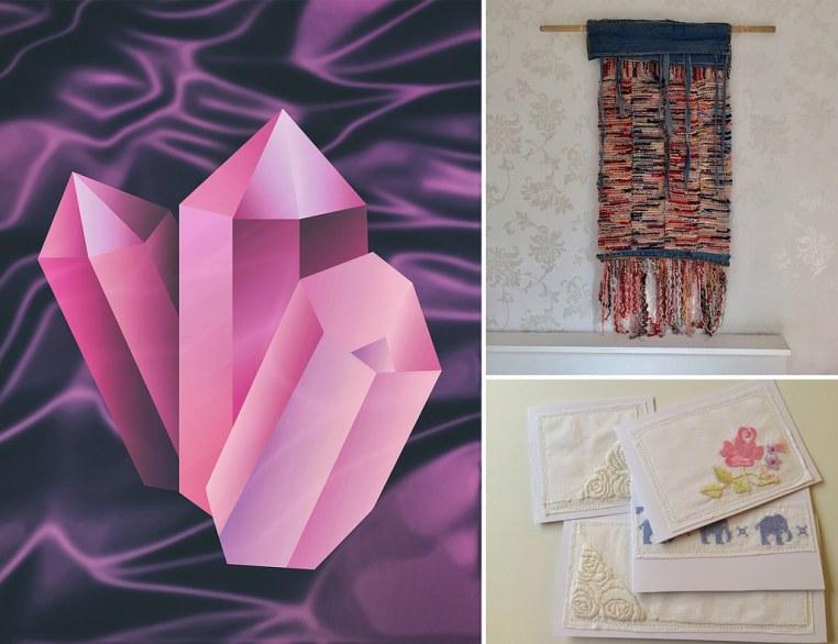 Monthly Makers tyg - fotokonst väggbonad grattiskort